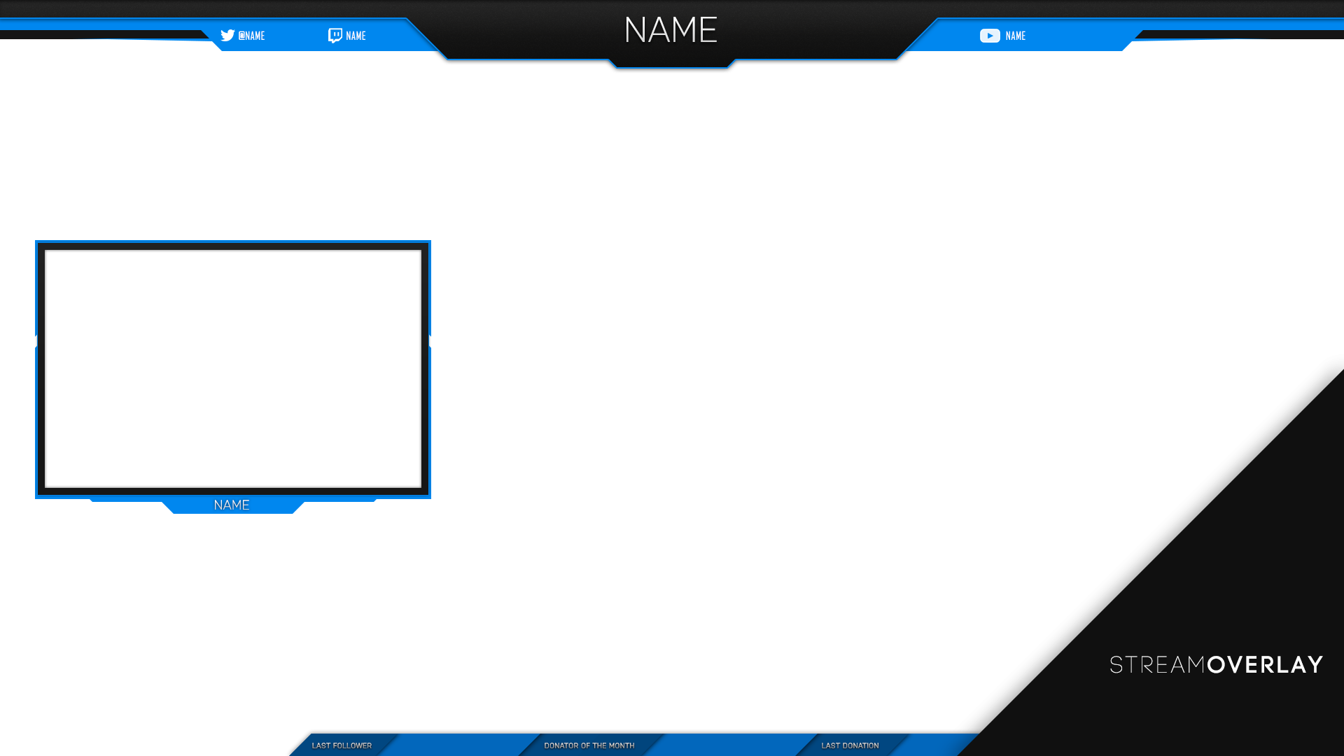 Twitch Stream Overlay PNG Image