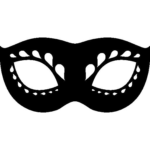 Black Carnival Eye Mask PNG Transparent Image