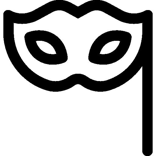 Black Carnival Eye Mask Transparent Background