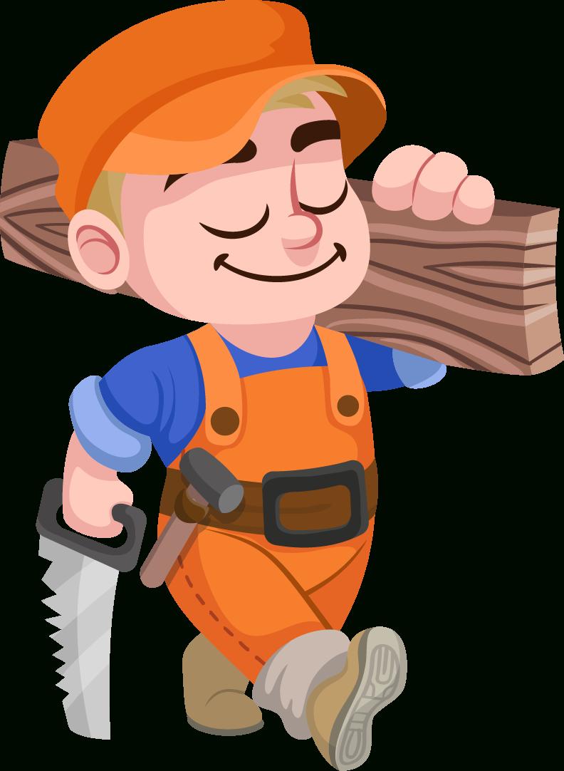 Carpenter Vector PNG File