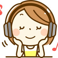 Sitting Girl Listening Music PNG