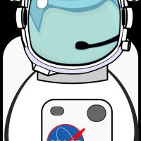 Vector Astronaut Helmet PNG Transparent Image